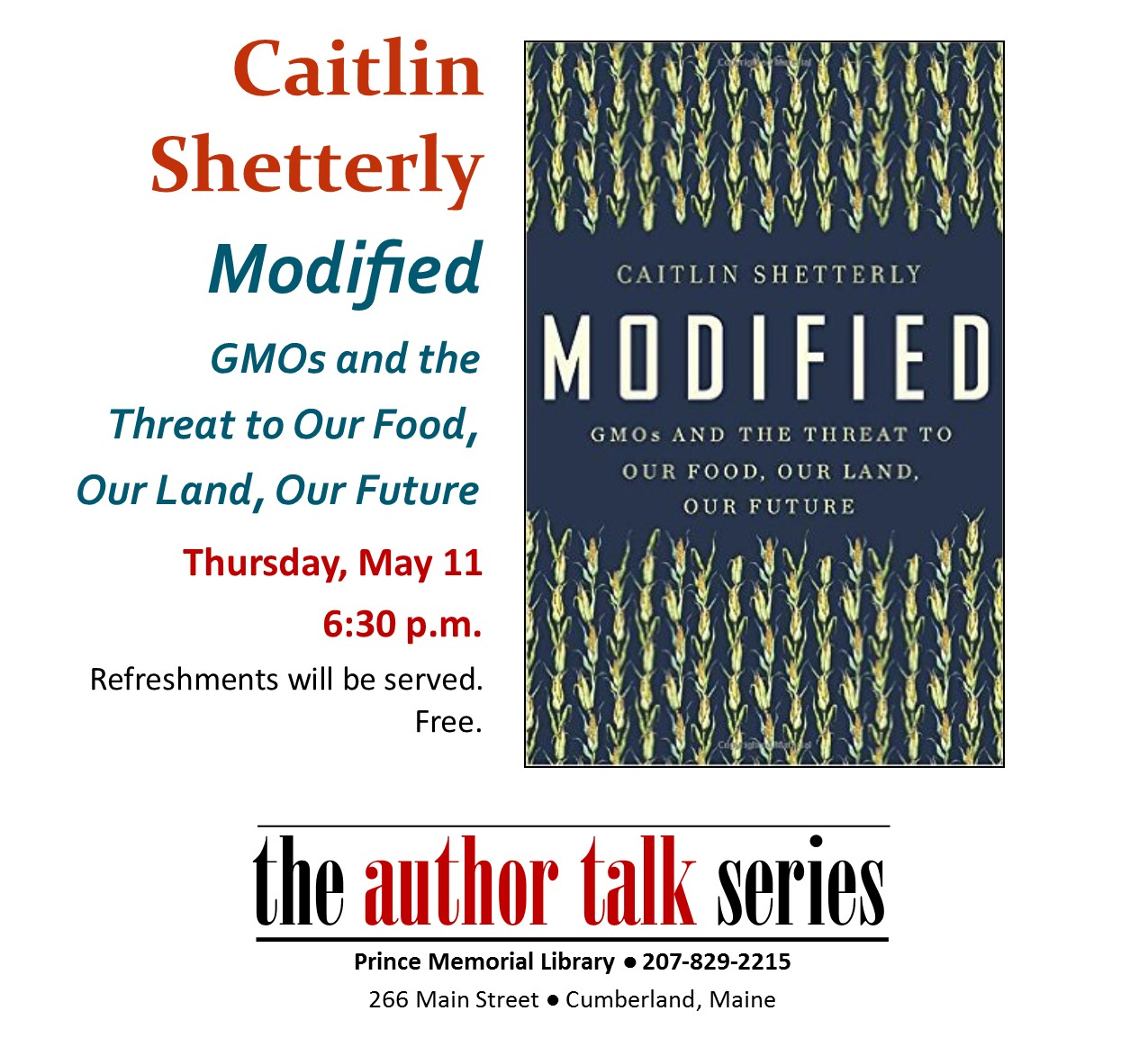 Author Talk caitlyn shetterly